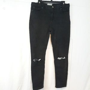Free People distressed black jeans